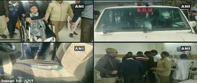 किसानों और जिला प्रशासन के बीच हिंसक झड़प, SDM गुंजा सिंह समेत कई पुलिसकर्मी घायल