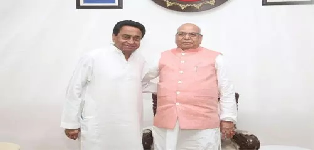 CM कमलनाथ ने फ्लोर टेस्ट से पहले राज्यपाल लालजी टंडन को सौंपा इस्तीफा