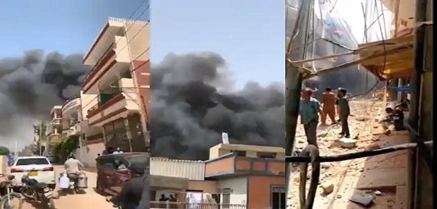 पाकिस्तान में बड़ा विमान हादसा, लैंडिंग से पहले क्रैश हुआ विमान