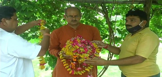 अयोध्या मंदिर निर्माण के लिए भेजी गई मां पीतांबरा देवी की रज