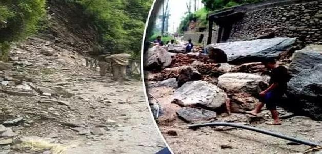रुद्रप्रयाग में फटा बादल, गांव में भयंकर तबाही, लोगों के घरों में घुसा मलबा