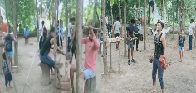 सतना के युवाओं ने तैयार किया देसी जिम, गांव का हर युवा नि:शुल्क जिम में आकर कर रहा व्यायाम