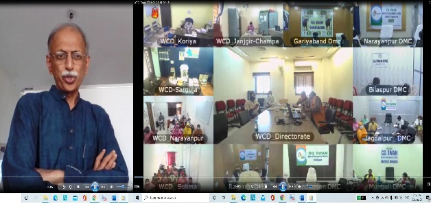 महिला बाल विकास विभाग के अधिकारियों के लिए कुपोषण पर ऑनलाइन संवेदीकरण तकनीकी प्रशिक्षण आयोजित