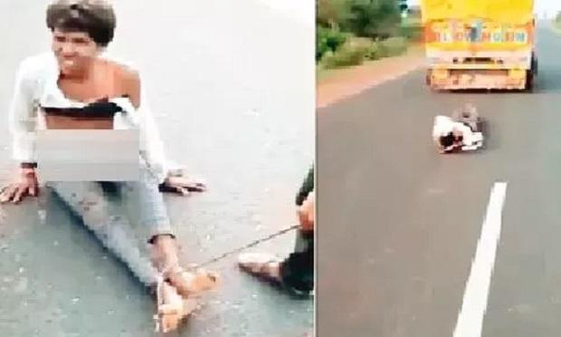 बाइक से ठोकर लगी तो दबंगों ने आदिवासी युवक को पिकअप से घसीटा, मौत