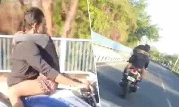 Video Viral:  ऐसा वीडियो आपने देखा है क्या बीच सड़क पर बाइक वाला प्यार