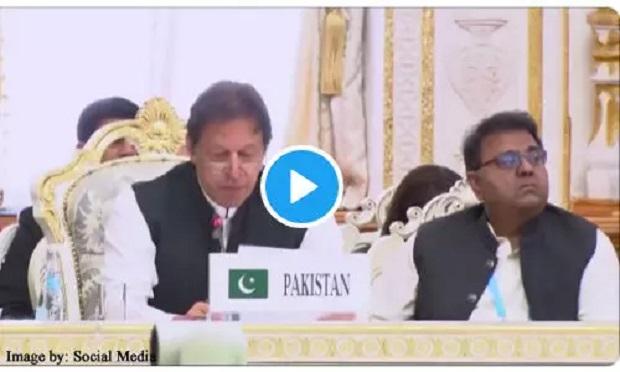 पीएम इमरान खान का भाषण मंत्री को नहीं आया पसंद!, बगल में बैठे फवाद चौधरी ने की ये हरकत