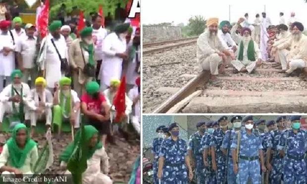 6 घंटे के लिए शुरू हुआ किसानों का रेल रोको आंदोलन, लखनऊ में धारा 144 लागू, यहां दिख रहा असर